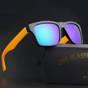 menyimpan 2017 baru kacamata hitam pria wanita sport sun kacamata helm  kuning frame biru lense harga diskon rp 89.000 beli sekarang ad7afa1231