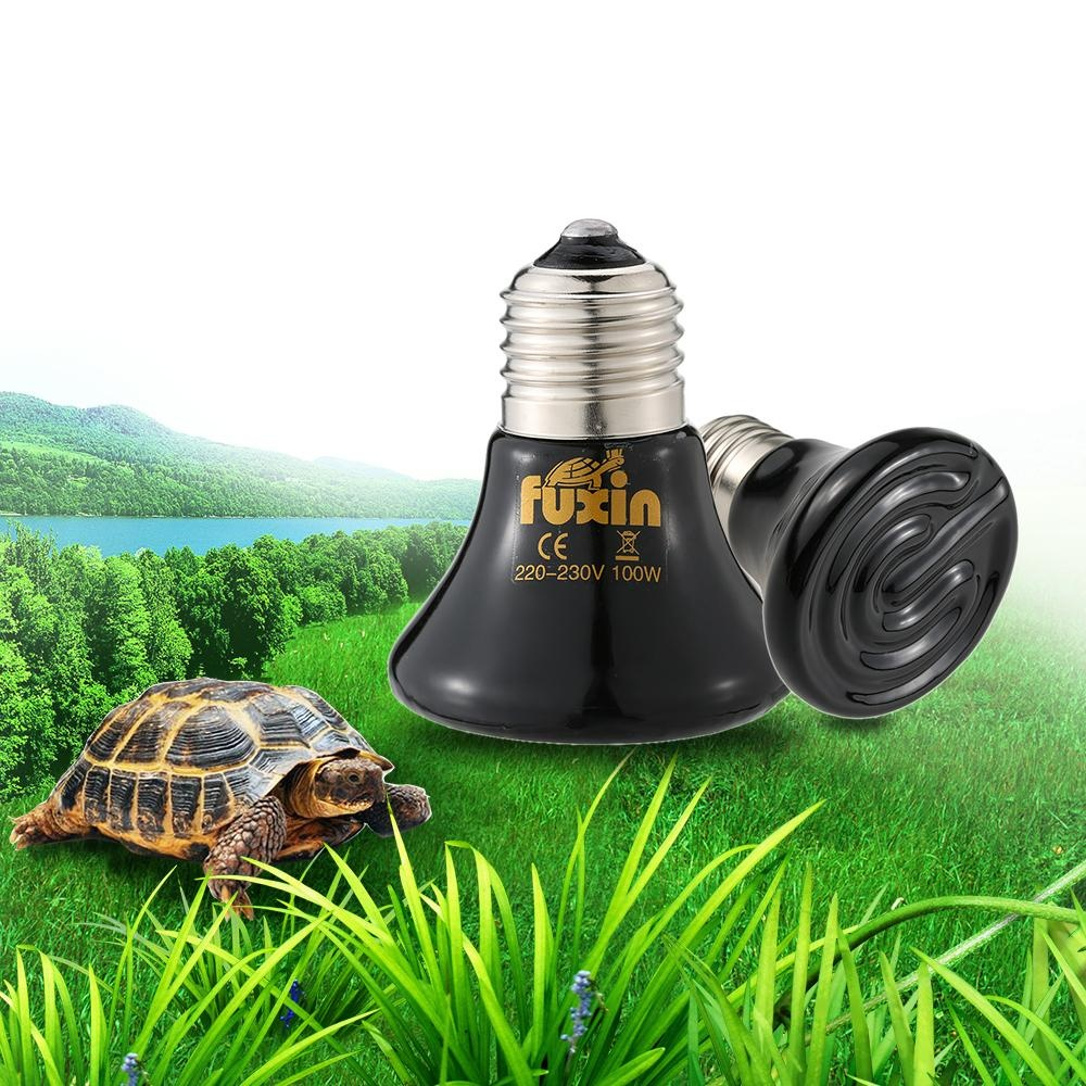 220V 100W Mini Pet Heating Light Bulb E27 Infrared Ceramic EmitterHeater Lamp for Coop Pet Reptiles Brooding Turtle Amphibians FarmAnimals - intl