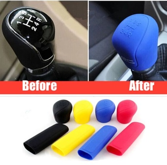 2 Pcs Mobil Manual Universal Silikon Gear Shift Knob Cover Gear Shift Kerah Pegangan Rem Tangan