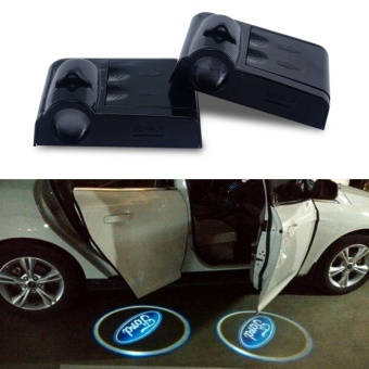2X Led Car Door Lights for Ford Logo Projector For Ford FocusFiesta Mondeo Kuga Ecosport - intl