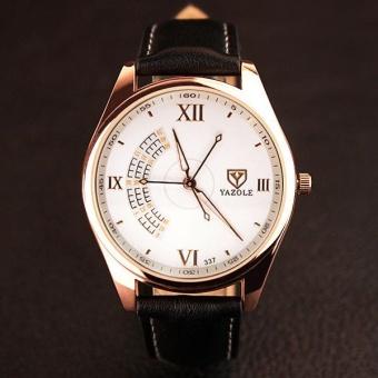 337yazole Three Seconds Hand Fashion Casual Men's Quartz Watch with A Watch Men's Models?white-black? - intl