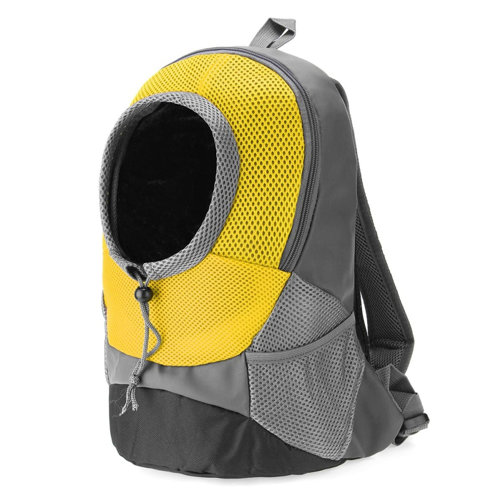 35*30*14 cm Portable Pet Dog Cat Puppy Head Out Carrier Comfort Travel Backpack Yellow - intl