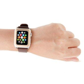 38 mm pelindung layar anti gores liputan lengkap Apple Watch keemasan