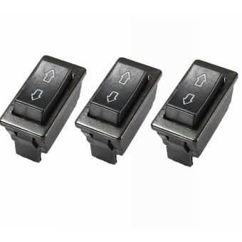 3 x universal DC 12 V 20A Auto Car Power Window Switch 5-pin ON/OFF SPST Rocker BLACK -Intl