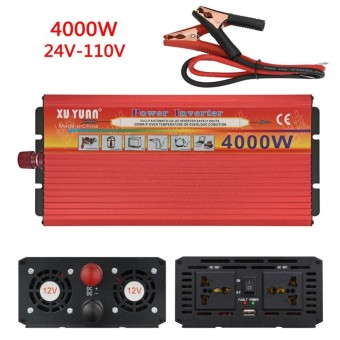 4000W WATT Power Inverter DC 12V/24V to AC 110V/220V Charger Converter 24V - 110V - intl