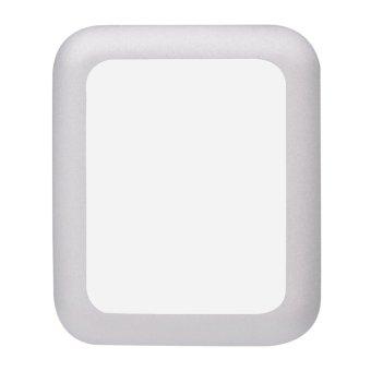 42 mm pelindung layar anti gores liputan lengkap Apple Watch Silver