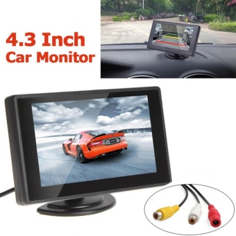 4.3 Inch Mobil LCD TFT Screen Display Rearview Kamera Membalikkan Monitor 480x272-Internasional