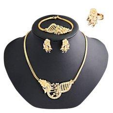 ... sama rantai telinga anting-anting. RP 34.888. 5 buah mode Set perhiasan paduan emas mutiara berlian imitasi antik bunga liontin kalung gelang anting