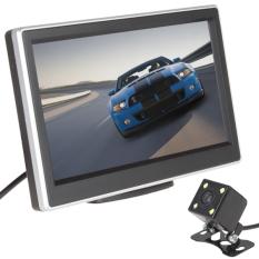 5 inci LCD TFT mobil belakang warna tampilan monitor + 420 saluranTV 170 derajat kamera penglihatan