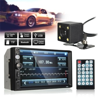 """7\""\"" Car Stereo Player Double 2Din In Dash Touch Bluetooth Radio MP3 FM + Camera - intl - intl\"""