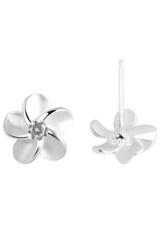 925 perak 925 prem bunga kristal giwang memasang anting-anting hadiah perhiasan wanita