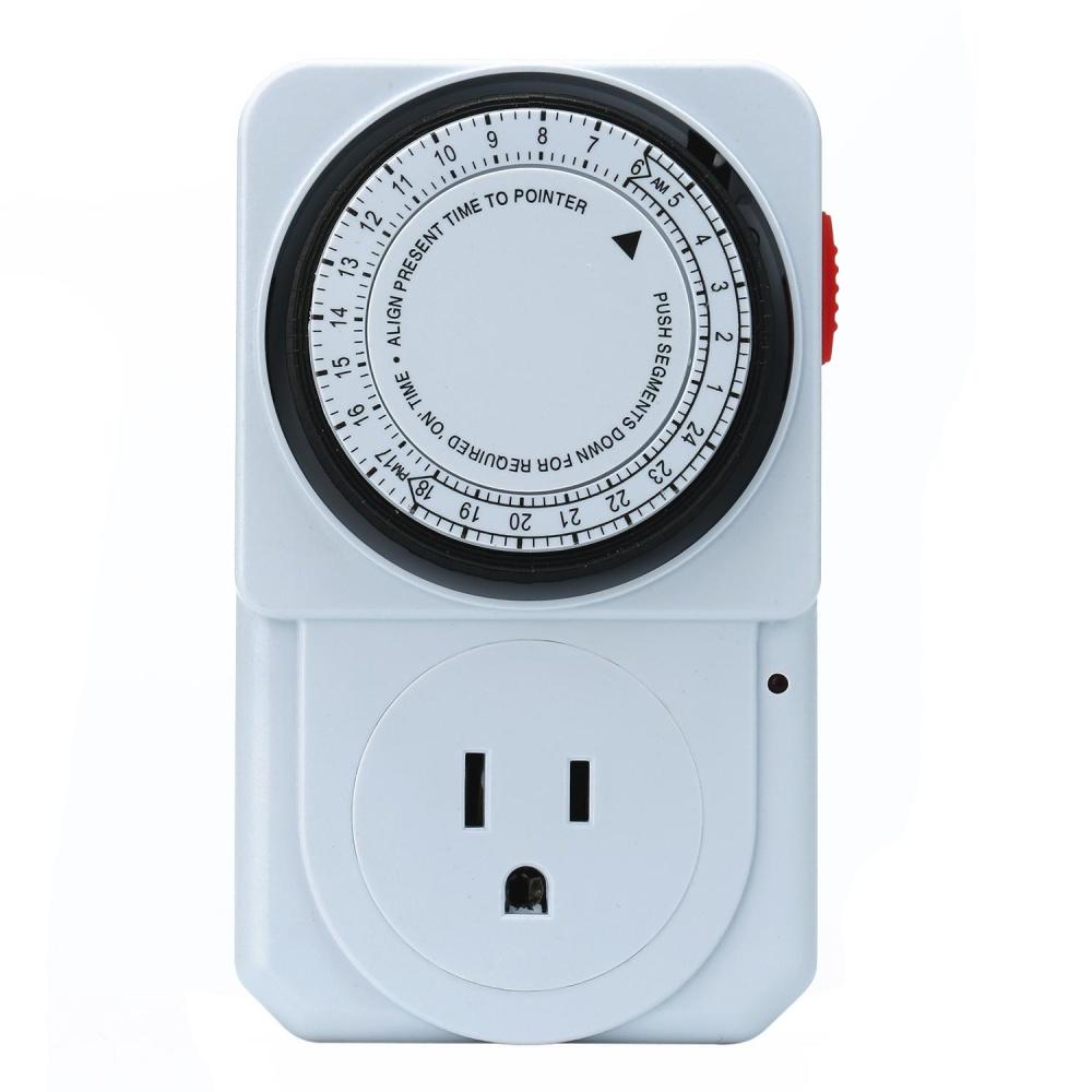 aibowan Timer Socket Indoor 24 Hours Heavy Duty Appliance Timer forHousehold Appliances,US Plug - intl