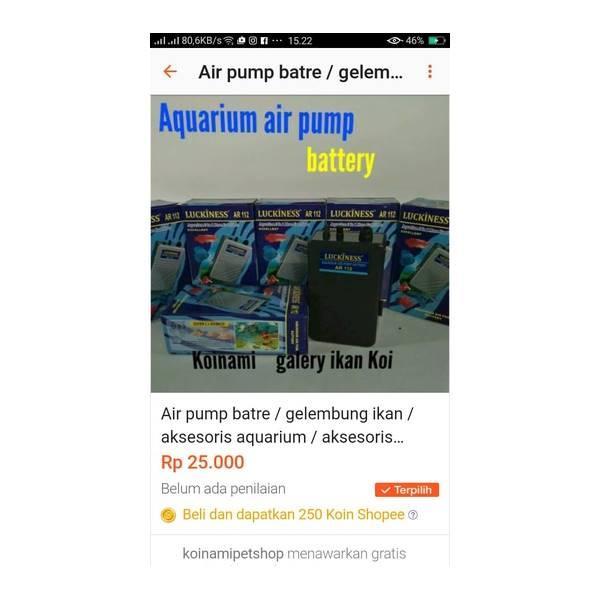 Air Pump Batre / Gelembung Aquarium / Gelembung Batre / Luckiness