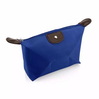 AIUEO Cosmetic Travel Pouch Dompet Kosmetik - Blue