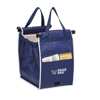 AIUEO- Grab Bag - Kantong Belanja Serbaguna - Grab Bag Single 1 Pcs - Biru - 3 Buah
