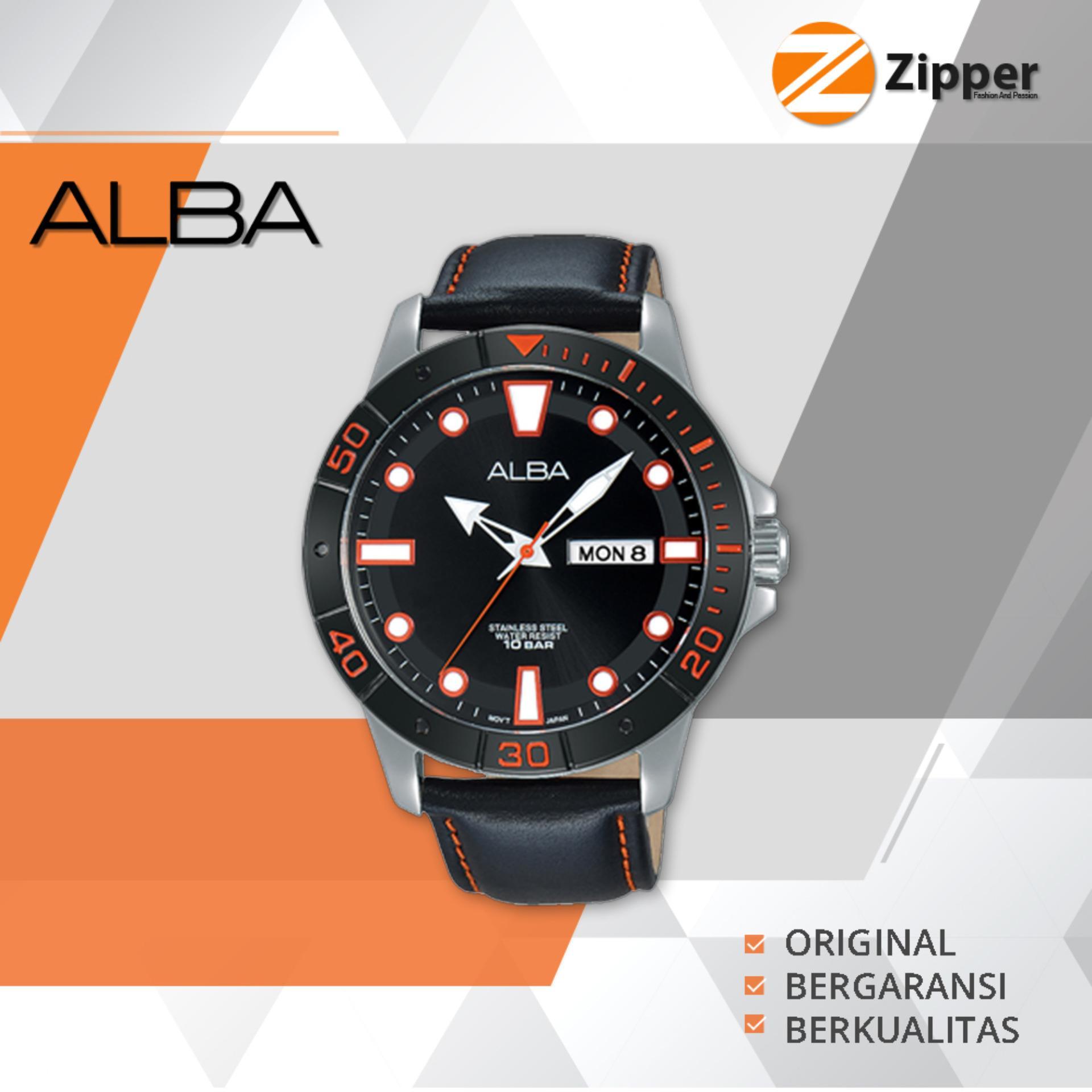 Alba Active Analog Jam Tangan Pria Tali Kulit AT2045X1