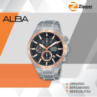 Alba Active Chronograph Jam Tangan Pria - Tali Stainless Steel - AM3298X1