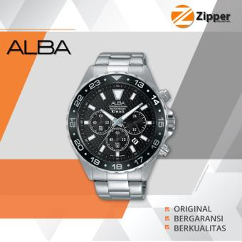 Alba Active Chronograph Jam Tangan Pria - Tali Stainless Steel - AT3907X1