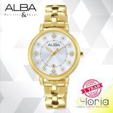 Alba Fashion Jam Tangan Wanita - Tali Stainless Steel - Gold - AH7L54X1