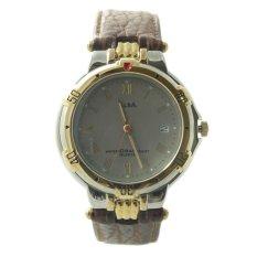 ALBA Jam Tangan Pria - Brown Gold Silver - Leather Strap - ATXT56IDR280000. Rp 283.000