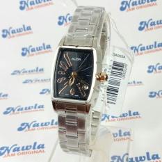 Alba Ladies AH7233X1 Rectangle Case Black Dial  Jam Wanita AH7233