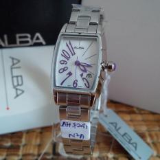 Alba Ladies AH7241X1 Rectangle Case White Dial  Jam Wanita AH7241
