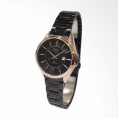 Alexandre Christie 8529 Classic Steel Jam Tangan wanita - Black Rose Gold
