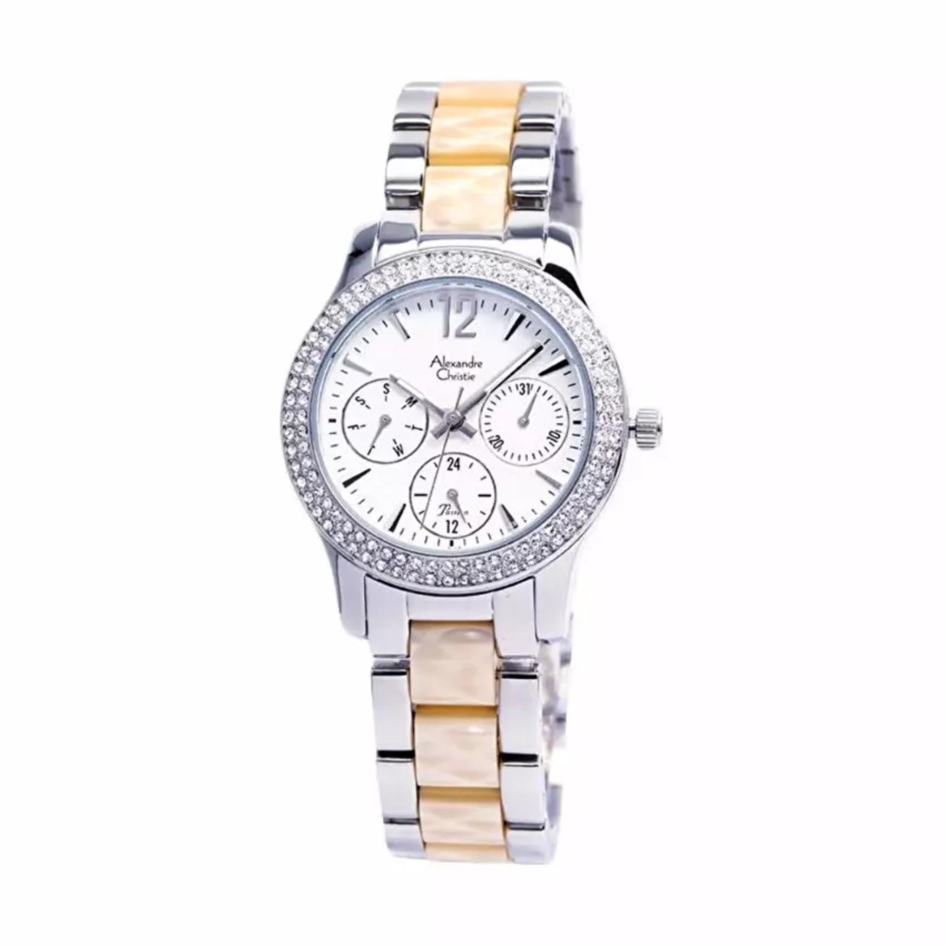 Indonesia Review Alexandre Christie Ac 2608 Jam Tangan Wanita 6442 Couple Rose Gold Black Fashion Silver Cream