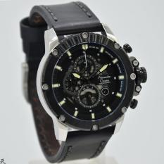Alexandre Christie - AC 6416 - Jam Tangan Casual  Pria Leather Strap  -  Black