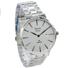 Alexandre Christie  AC 8539M Strap Stainless Steel Silver White