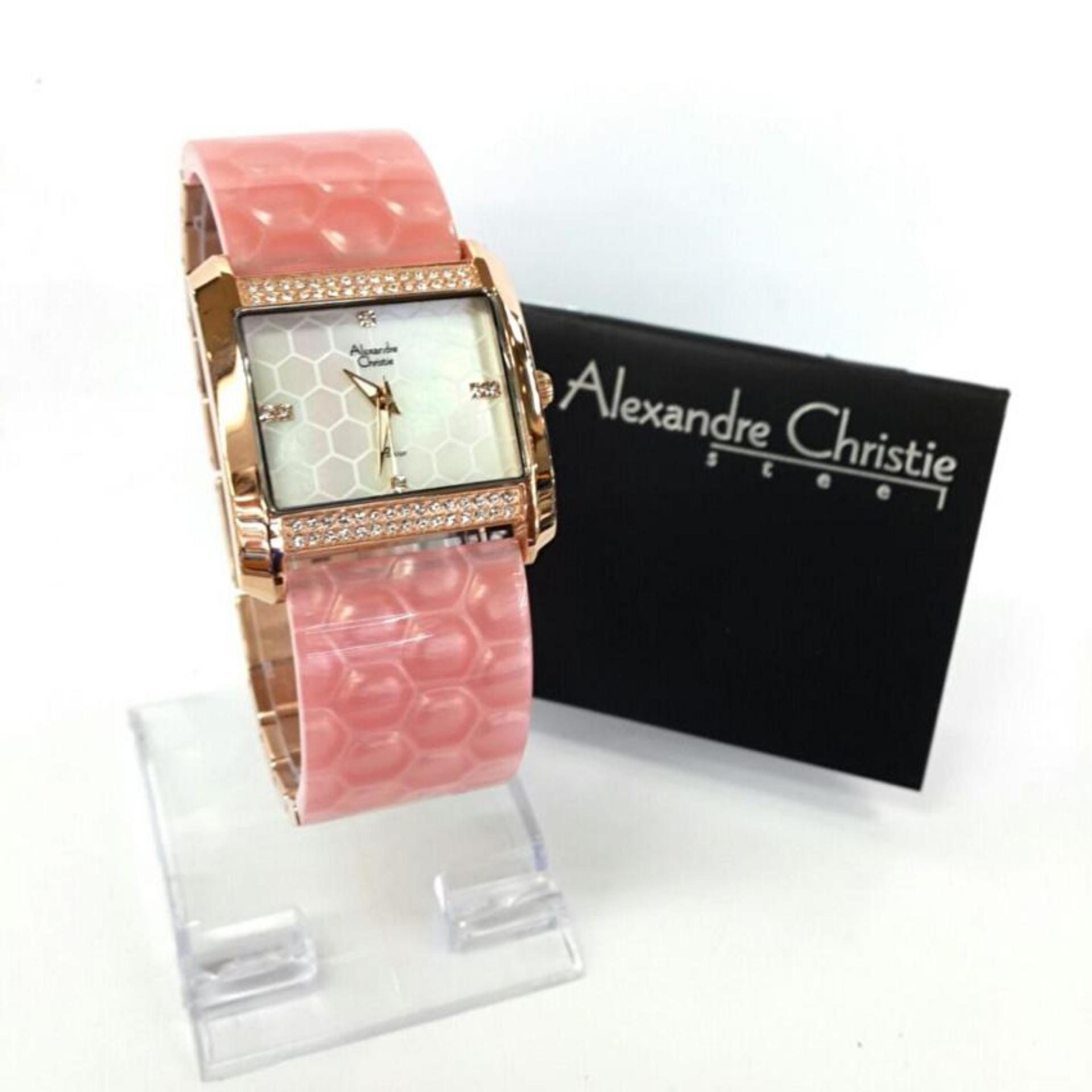 Perbandingan Harga Alexandre Christie Ac2526 Original Jam Tangan Ac 6442 Couple Black Rose Gold Wanita Mika Fashionable
