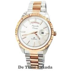 Alexandre Christie AC5004 Jam Tangan Pria Stainless Steel Silver Gold