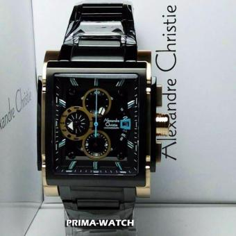 Alexandre Christie AC6405 - Jam Tangan Pria - Stainless Steel - (Hitam Rosegold)