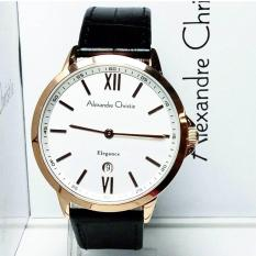 Alexandre Christie AC8436BRG Jam Tangan Pria Strap Leather rosegold putih