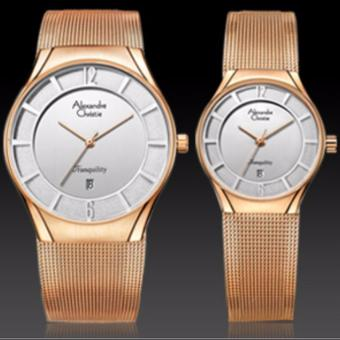 Alexandre Christie - Jam Tangan Couple - Rosegold - Stainless Steel - AC8331LDMDRS