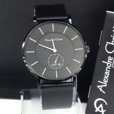 Alexandre Christie - Jam Tangan Pria - Leather Strap - AC 8484 Black Man