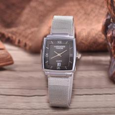 Alexandre Costie  Original Brand, Jam Tangan Wanita - Body Silver - Black Dial - Stainless Stell Mesh Band - AC-RT-2343A-L-TGL-SB-Stainless Steel Mesh Band