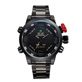 am Tangan Pria Anti Air Original Weide Japan Men Black White