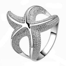 Amango Perempuan Bintang Laut Cincin 925 Sterling Perak 6