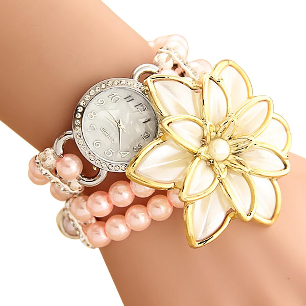 Wanita Kulit Pasir Isap Rhinestone Quartz Gelang Arloji Watch Biru Jam Tangan Rose Gold Source Amart