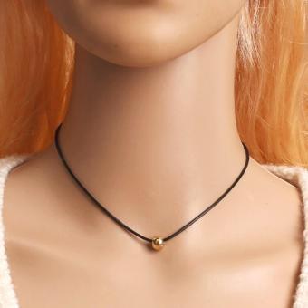 Amefurashi Kalung Cantik & Manis Choker A21 Small Bead Ball Pendant Necklace - 2