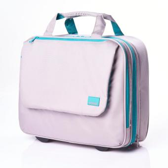 American Tourister Tas Huemix Rolling Tote - Grey/Turquoise