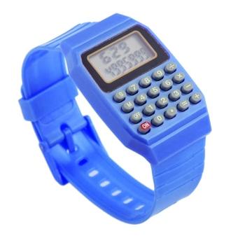 harga Anak Tanggal Serbaguna Elektronik Jam Tangan Kalkulator MiniSilikon Biru Lazada.co.id