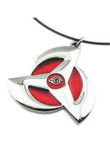 Gambar Anime Naruto Metal Kakashi Syaringan Pendant Necklace Cosplay BestGift Red