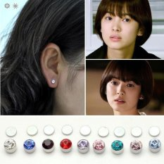 Anne - Anting magnet kristal - Clear 4mm