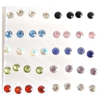 Anneui - EE0312 - Anting Tusuk Model Kristal Bahan Tusukan Plastik