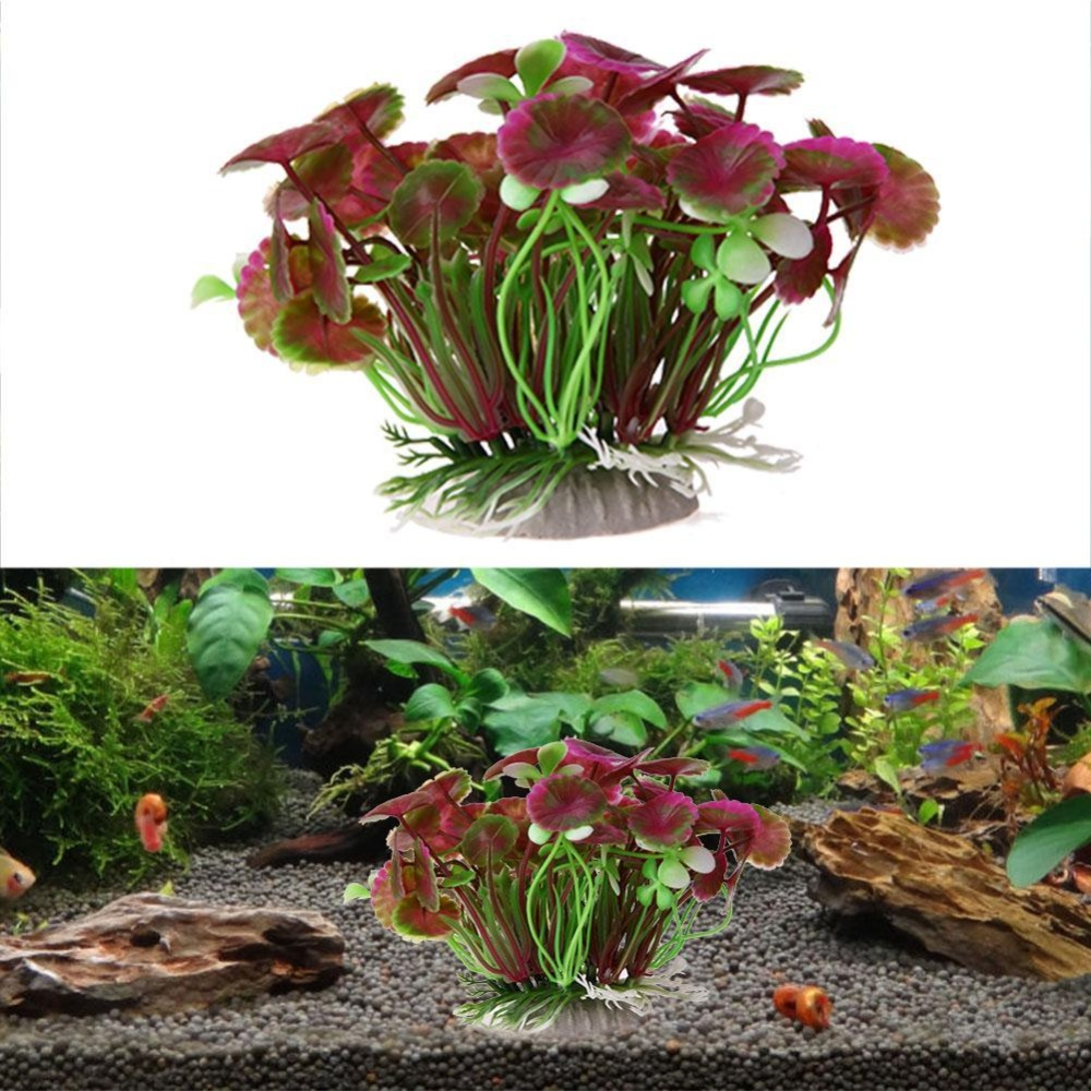 Aquarium Artificial Floral Grass Plant Fish Tank Landscape Decor Green - intl