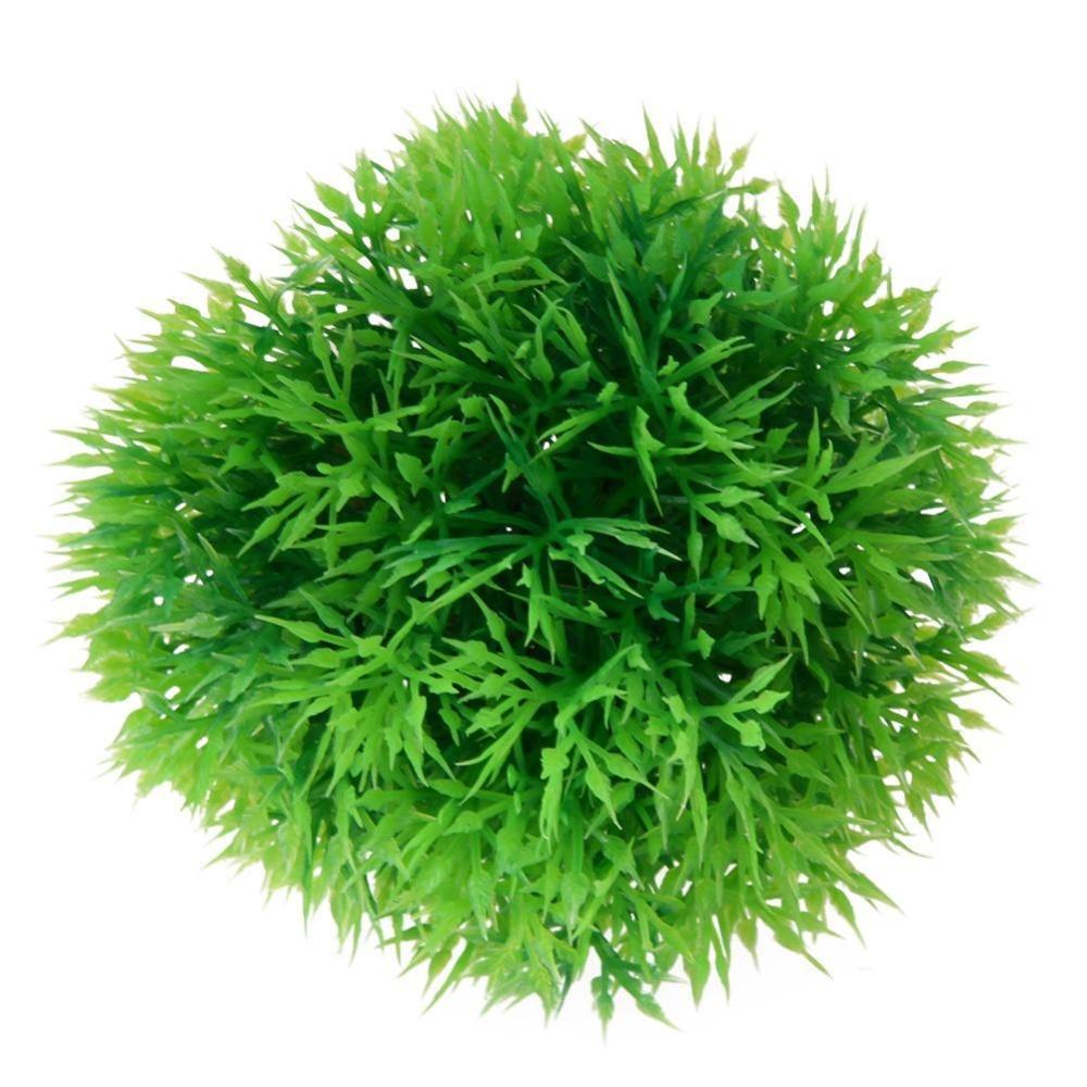 Aquarium Artificial Water Plant Grass Ball Ornament Landscape Decor(Green) - intl