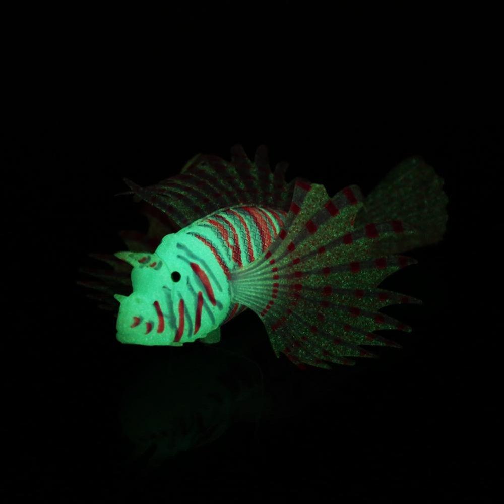 Aquarium buatan Ikan tangki lanskap dekorasi Glow simulasi ornamen merah ...
