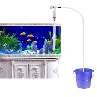 Aquarium Fish Tank Gravel Sand Cleaner Siphon Pump Water Chargerwith Water Flow Adjuster (Squeeze Free) - intl